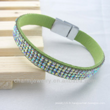 Vente chaude Bracelets en cuir de beauté populaires