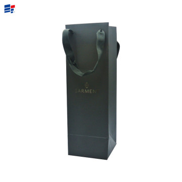 Luxury wine black paper gift bag