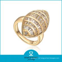 Top qualidade prata dourada CZ conjunto de jóias (SH-J0049R)