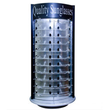 China Manufacturing Metal Hook Desktop Wood Frame Quality Rotating Turntable Sunglasses Rayban Dispays