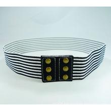 Stripe Women Elastic Waist Belt