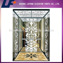 Etching/ Hairline Stainless Steel Elevator Cabin