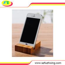 Soporte de madera flexible del soporte del teléfono móvil para los dispositivos del teléfono