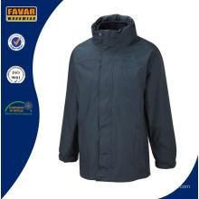 Coquille imperméable 3-en-1 avec veste intérieure en laine polaire chaude amovible