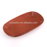 Real Leather Brown Handmade Box Leather Tray Leather Basket