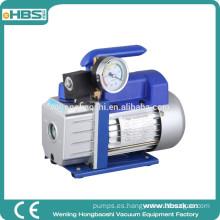 1/3 HP 2.5 CFM Bomba de vacío profunda de paleta rotativa Herramientas HVAC con manómetro para refrigerante AC R410A
