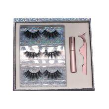 SL014H Hitomi Siberian Mink Eyelashes 100% Real mink eyelashes Fluffy Magnetic Eyelashes with Eyeliner and tweezers