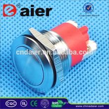 Daier GQ-19B Interrupteur à bouton-poussoir en acier inoxydable