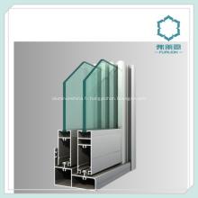 Aluminium anodisé fenêtre système canal
