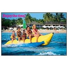 ¡Mira! Material del PVC 16′5′′ barco inflable Banana Boat de cogida del ojo