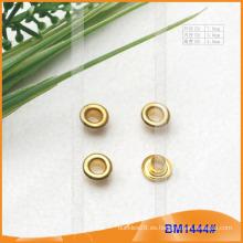 Inner 3MM Ojales de cobre amarillo para la ropa / el bolso / los zapatos / la cortina BM1444