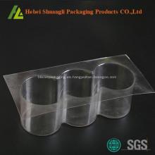 Cajas de empaquetado redondas de la torta de plástico