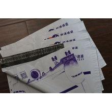 LDPE kundengebundene Farbgutaussehende Polymailer-Mode-klare Plastiktasche