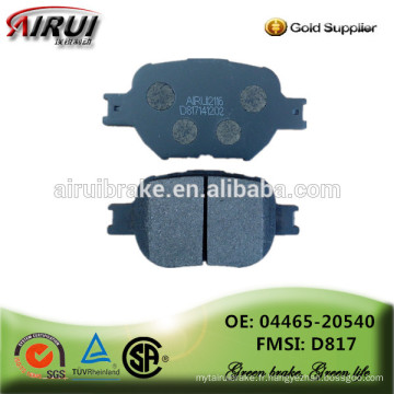 Plaquettes de frein de haute qualité, pièces automobiles Fabricant chinois (OE: 04465-20540 / FMSI: D817)