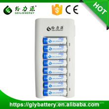 Preço de atacado 8 slot ni-mh ni-cd aa aaa carregador de bateria automático
