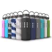Silikonschutzhülle für Wasserflaschen mit Wasserkolben