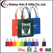 Custom reciclado impreso no tejido bolso / Shopper barato bolso de totalizador