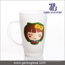 12 oz impressão caneca de vidro fosco (GB094212-DR-112)