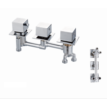 Sanitary ware mixer tap modern top brass  square handle popular thermostatic shower faucet