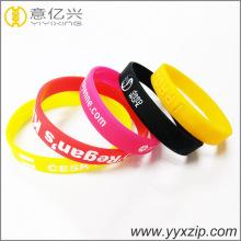 Пользовательские логотипы дизайн дизайн резиновый браслет рекламные предметы