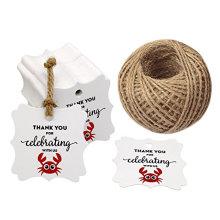 Merci de célébrer avec des mots Craft Paper Hang Hang Paper Tag