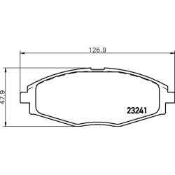 Chevrolet Matiz brake pads TRW GDB3195