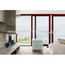 2pcs ou 4pcs ou 6pcs ou 8pcs Porte coulissante en aluminium sur mesure, grandes portes coulissantes avec verre plein et grils