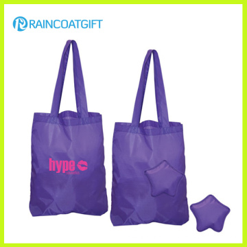 Promotional Foldable Polyester Advertising Tote Bag