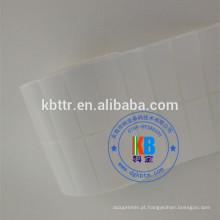 etiqueta de empacotamento do transporte do adesivo do papel revestido térmico em branco semi lustroso