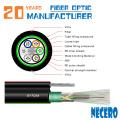 GYTC8Y53 dupla bainhaFigura 8 aéreo e subterrâneo único modo 60 núcleo cabo de fibra óptica para o mercado da Argélia