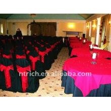 Couverture de chaise de banquet standard, CT071 polyester matière, durable et facile lavable