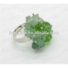 Wrap Rings with Green Aventurine Chip stone
