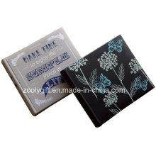 Impression de conception personnalisée Tissu de lin Album photo Broderie Noir Album photo en cuir PU