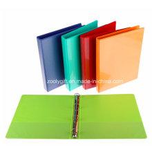 Letter Size PVC 4 Ring Binder Dossier de dossier avec des poches en PVC transparent à l'intérieur