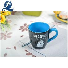 Vente chaude en gros personnalisé imprimé à la main décoration de la maison tasse de café en céramique ensemble