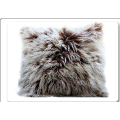 Genuine Pure Color Decorate Mongolian Lamb Fur Pillow