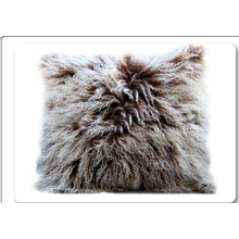Europe style for Mongolian Sheep Fur Pillows Genuine Pure Color Decorate Mongolian Lamb Fur Pillow export to Netherlands Exporter