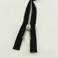 Novo material Zip Metal Teeth Black Zipper