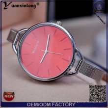 Yxl-413 2016 señoras de la manera reloj de pulsera Japón Movt reloj de cuarzo colorido Dial Vogue vestido de malla correa mujeres reloj
