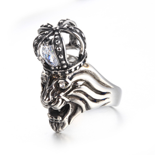 animal lion ring