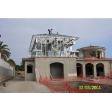 Casa de acero prefabricada de construcción fuerte y rápida