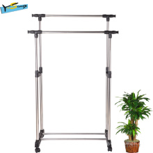 Active Dual-Pole Towel Rack Laundry Rack