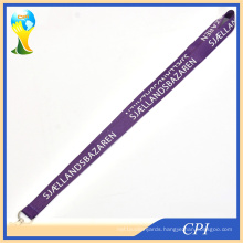 Purple Polyester Lanyard with White Logo Printed on 1 Side