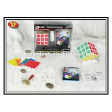 Рекламные подарки Пластиковый YongJun волшебный куб скорости с смазочной отверткой и держателем кубика