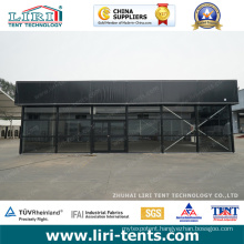 Inflatable Cube Structure Tent with Black PVC Fabric for Events