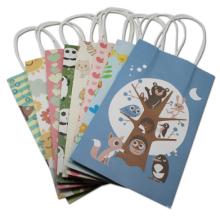 Bolsa de papel de empaquetado de las compras de la bolsa de papel de Kraft del embalaje de los juguetes del embalaje de los juguetes con las manijas