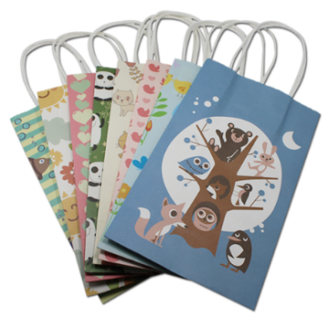 Jouets emballant le sac portatif de papier d'emballage de sac de papier d'emballage de sac de papier d'emballage avec des poignées