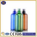 Bouteilles de 500ml en plastique Pet bouteilles de shampooing de forme ronde