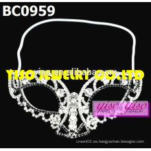 Máscara rhinestone pageant tiaras