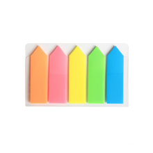 Deli 5 Colors Classification Ultra Thin Translucent Arrow Sticky Notes